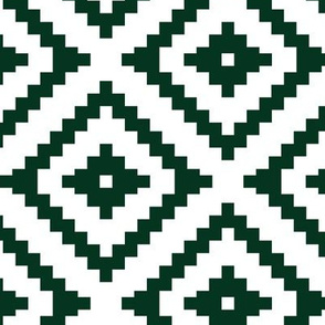 aztec - dark green C18BS