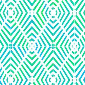 Rhombus Blur Watercolor Green