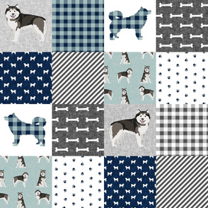 malamute pet quilt b dog breed fabric quilt collection cheater