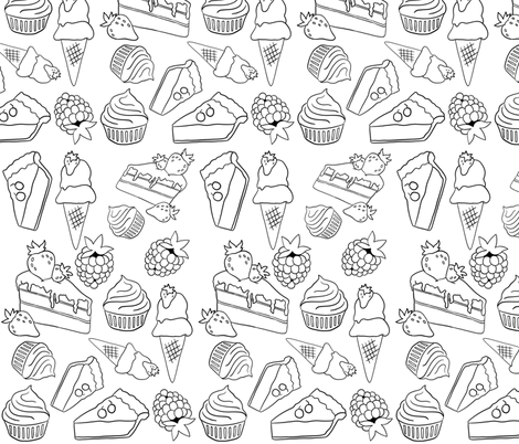 Sweet Treats fabric by dreams_and_whimsy on Spoonflower - custom fabric