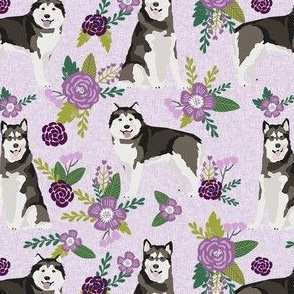 malamute pet quilt c dog breed fabric quilt collection floral coordinate
