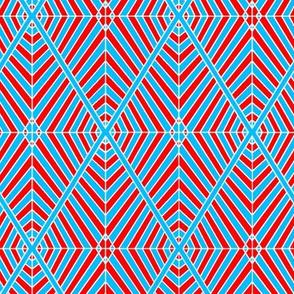 Rhombus Red Blue