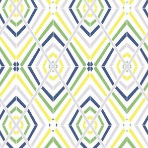Rhombus Yellow Green Navy