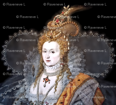 Queen Elizabeth 1 princesses Queens renaissance tudor big lace ruff collar baroque pearls silver gown crowns tiaras rubies ruby england britain beauty elizabethan era 16th century 17th century historical embroidery ornate royal portraits beautiful woman l