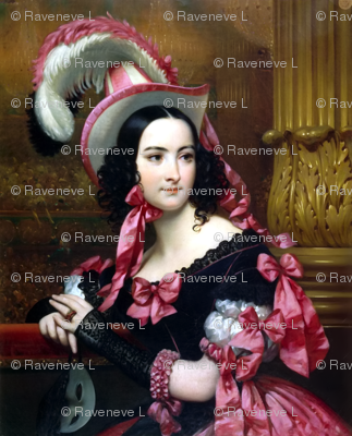 black fuchsia neon pink gowns bows hats feathers baroque victorian masquerades masks roman columns vintage antique  beauty rococo portraits beautiful lady woman elegant gothic lolita egl 18th 19th century neoclassical  historical romantic