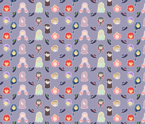Little Witch Academia fabric by mariellisdesign on Spoonflower - custom fabric