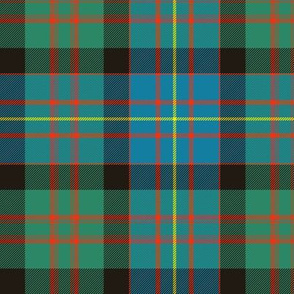 "Cameron of Erracht tartan, 6"" ancient colors"