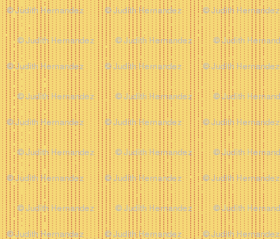 Yellow with intermittent red stripes.