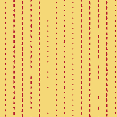 Yellow with intermittent red stripes. fabric by evault on Spoonflower - custom fabric
