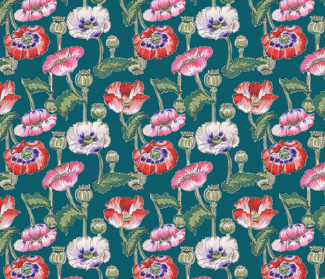 Big ol poppy fabric by marie-joie_hughes on Spoonflower - custom fabric