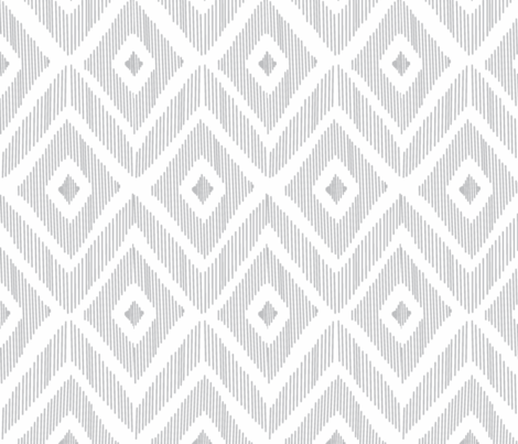 Ikat Gray (horizontal ) fabric by fat_bird_designs on Spoonflower - custom fabric