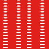 Ellipse Stripes in Ribbon Red