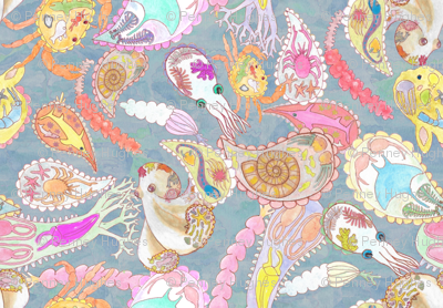 Teeming Paisley Sea Large