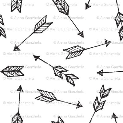 doodle boho arrows