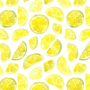 watercolor lemon slices