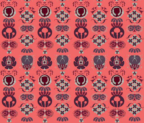 Holiday3pink fabric by tjrobertson on Spoonflower - custom fabric