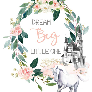 "2 to 1 Yard of Minky / 27""x36""  Dream Big Little One Unicorn"