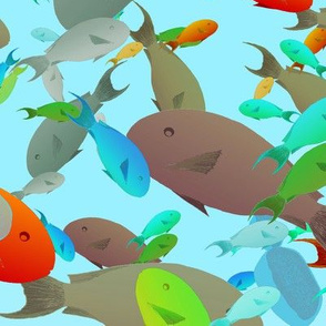 busy and chaotic fishes