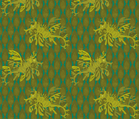 LeafySeaDragons fabric by beckarahn on Spoonflower - custom fabric