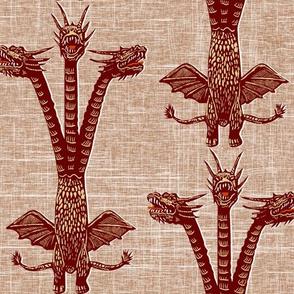 dragon on brown