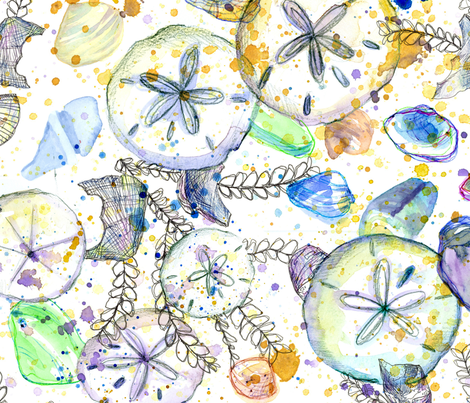Ocean Treasures fabric by countrygarden on Spoonflower - custom fabric