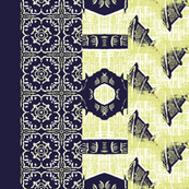 Dragon panel blue/yellow