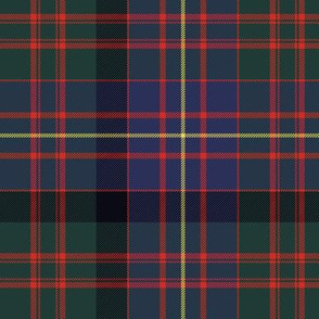 "Cameron of Erracht tartan, 6"" muted  dark"