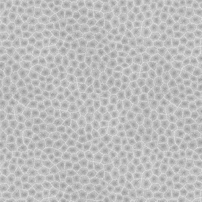 simplified petoskey stone, light greyscale, 1/4""
