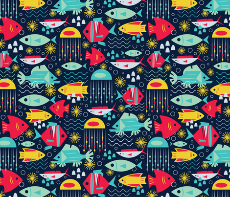 FISHY fabric by ccapone on Spoonflower - custom fabric