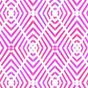Rhombus Blur Watercolor Pink