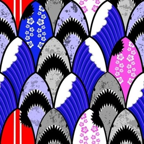jawsome shark scallop pattern