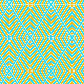 Rhombus Blue Orange