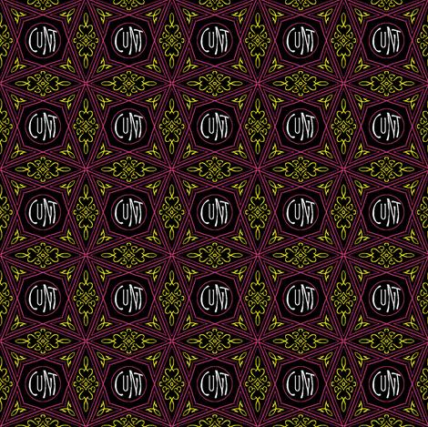 cunt elaborate fabric by secretbean on Spoonflower - custom fabric