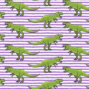 trex - purple stripes - dinosaur