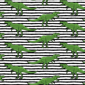 trex - black stripes - dinosaur