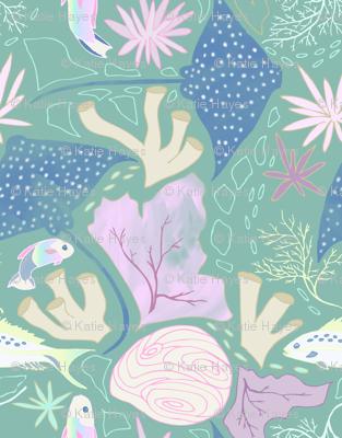 Pennekamp reef in green