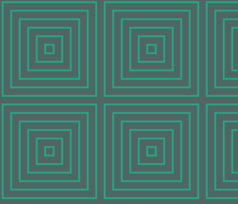 Squared Modern Green fabric by beshkakueser on Spoonflower - custom fabric