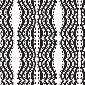 Seamless vintage decorative pattern with black geometric pattern. Hand drawing