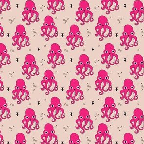 Adorable squid fish octopus geometric ocean theme under water deep sea paradise girls SMALL