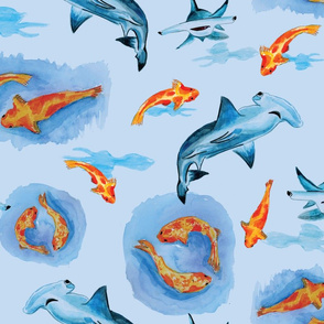 Hammerheads And Koi