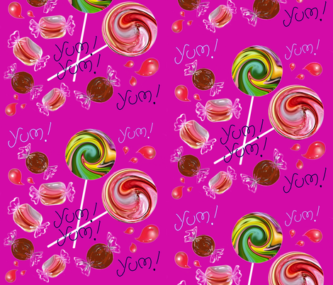 YUM YUM fabric by miki_kitti on Spoonflower - custom fabric