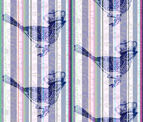 Princess of Euclidian Stripes fabric by walkwithmagistudio on Spoonflower - custom fabric