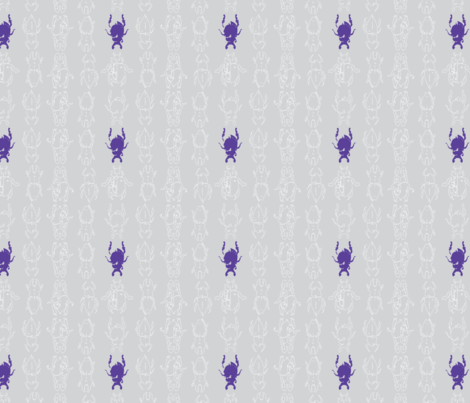 beetle repeat grey purple colourway-01-ch fabric by scarlet_jay on Spoonflower - custom fabric