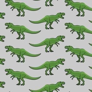 t-rex  - dinosaur on grey