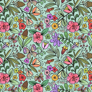 Enchanted_Garden_Coloring_Book_Floral_-_Black_and_White by heatherdutton