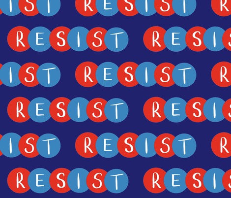 Resist / red, white and blue fabric by dreams_and_whimsy on Spoonflower - custom fabric