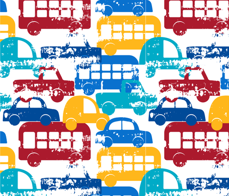 Traffic Jam fabric by pencils&brushes on Spoonflower - custom fabric