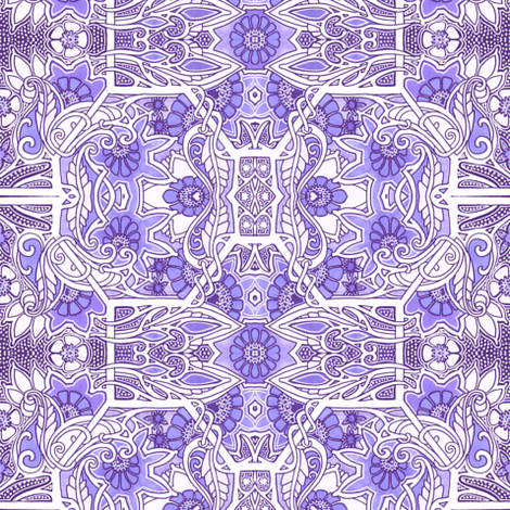 A Proclivity For Purple Posies fabric by edsel2084 on Spoonflower - custom fabric