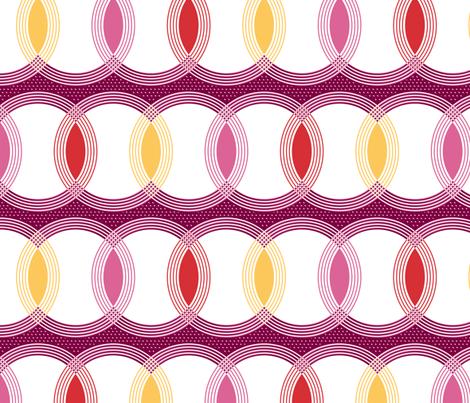 Circle Lights fabric by siya on Spoonflower - custom fabric