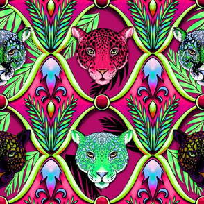 neon jaguars ogee in hard candy